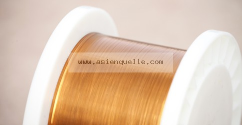 Ultra-fine rectangular enamelled copper wire
