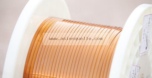 Fine rectangular enamelled copper wire